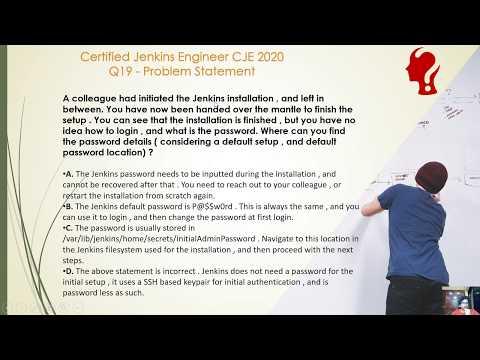 Certified Jenkins Engineer CJE 2020 Exam Practice Question 19 ...
