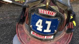 Cairns & Brothers Leather firefighters Helmet