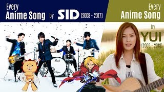 History Of Anisongs By SID (2008 2017) + YUI (2005 2018)