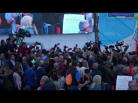 Segui in diretta da Roma, Piazza San Giovanni, la grande manifestazione  Orgoglio Italiano