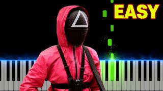Squid Game - Pink Soldiers (Netflix)   EASY Piano Tutorial