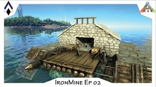 ark ironmine ep 02 pve raft base the nest a small fully outfitted