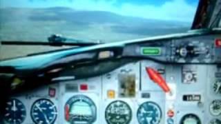 preview picture of video 'JAT Airways 727 - Landing in Sarajevo'