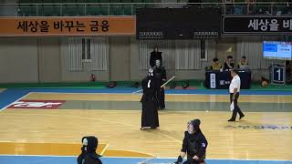 2019 단별검도대회 남자 4단부 64강 - 황호석 vs 박건후