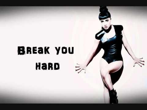 Natalia Kills - Break you hard lyrics on screen
