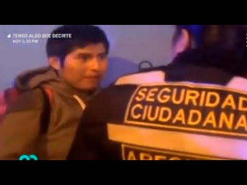 Sujeto golpea brutalmente a su pareja en plena calle de Arequipa