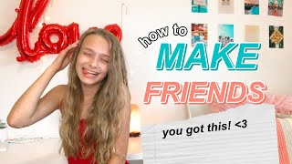 the ULTIMATE guide on how to make friends at school this year!