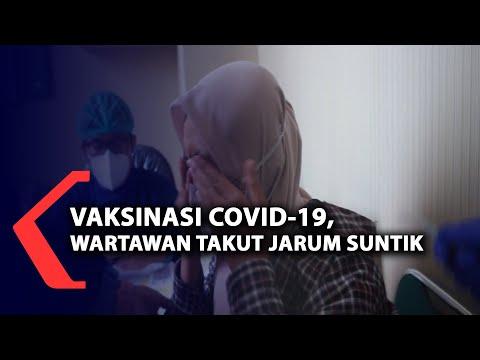 Vaksinasi Covid-19, wartawan takut jarum suntik