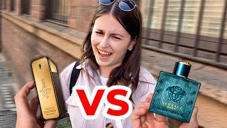 Versace Eros VS Paco Rabanne One Million | WOMEN DECIDE WHICH ONE IS BETTER