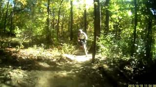 Maple Lake East linking to Hickory smoked. GREAT technique and cornering building trail. On this trail I am limited by how good I can take the corners (ride with caution as always). The whooping you hear is so I do not surprise other bikers.
