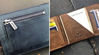 Perfekte Größe & tolles Material! Echtleder Slim Wallet