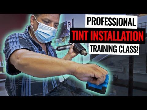 Professional Tint Installation Training! - YouTube
