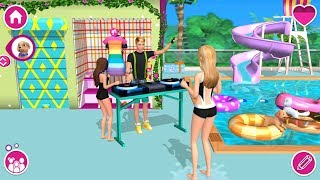 Barbie Dreamhouse Adventures - Barbie House Pool Party - Chelsea, Ken DJ Concert - Games For Girls