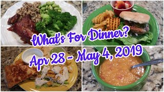What's For Dinner?  Apr 28 - May 4, 2019 | Cooking for Two | Easy Meal Ideas
