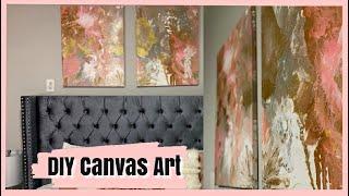 DIY Canvas Wall Art | #FluidArt