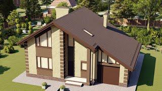 Проект дома 195-A, Площадь дома: 195 м2, Размер дома:  14x11,9 м