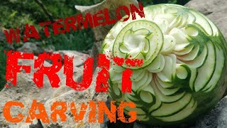 Fruit Carving | Carved On The Streets | Watermelon Fruit Carving | Vegetable  Carving | Carving Art