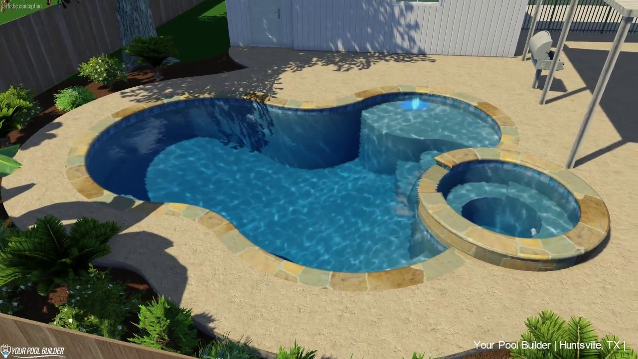 3D Pool & Spa Design Concept | Huntsville, TX | Your Pool Builder of Texas