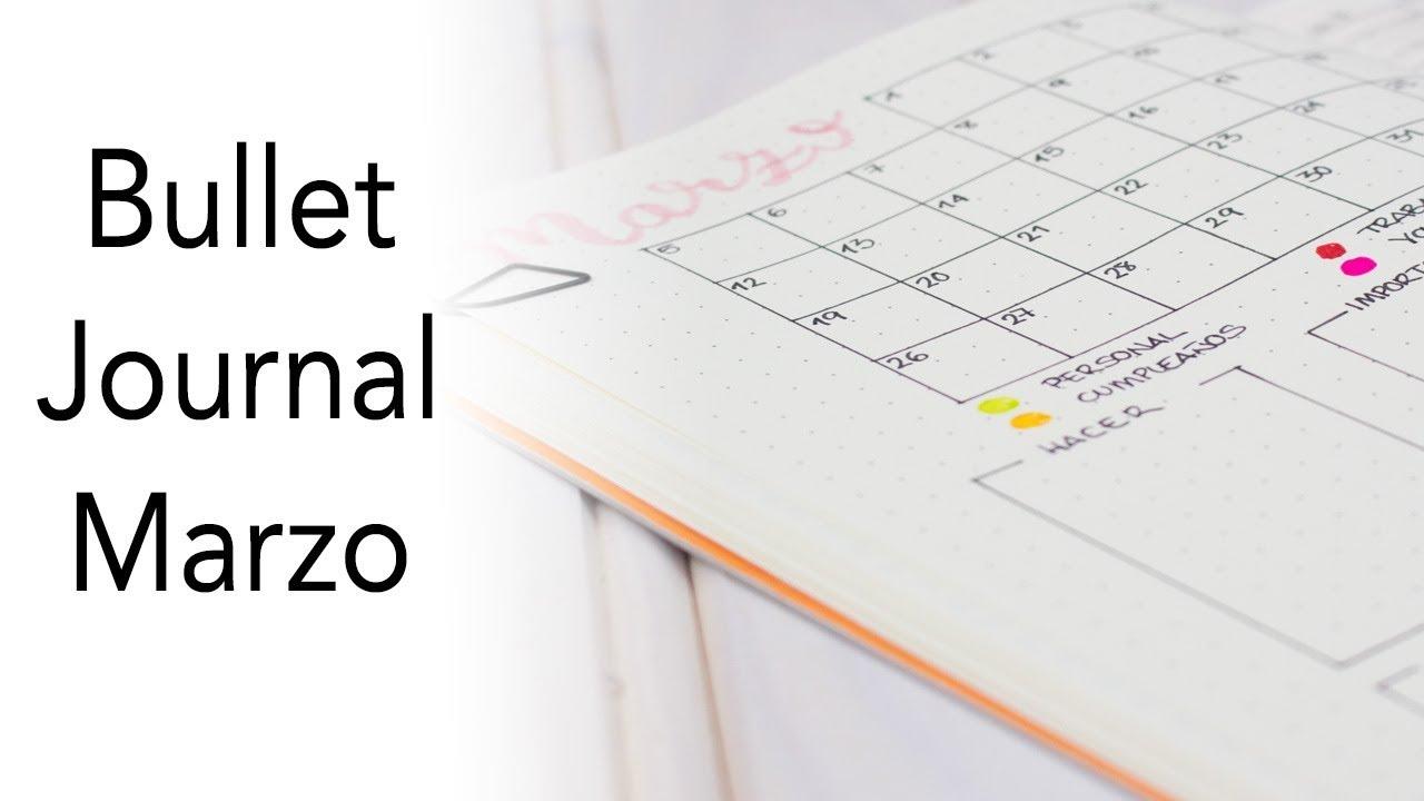 Bullet Journal Marzo | Planificación mensual