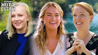 MAMMA MIA! HERE WE GO AGAIN On Set With Young Dynamos Lily James, Jessica Keenan Wynn, Alexa Davies