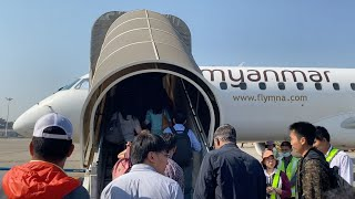 Myanmar National Airlines Embraer 190 Flight Experience: UB 213 Yangon to Heho