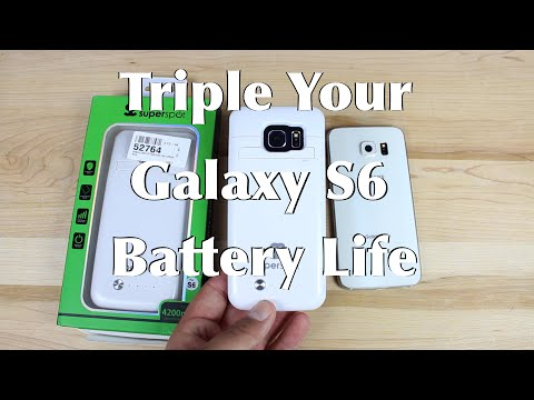Galaxy S6 / S6 Edge SuperSpot 4200mah Battery Case Triple Your Battery Life!