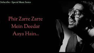 (Lyrics)Aaj Phir Song | Arijit Singh, Samira Koppikar | Hate