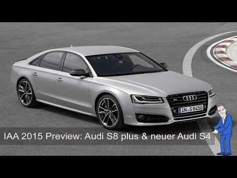 IAA 2015 Preview: Audi zeigt Audi S8 Plus, OLED Rückleuchten und neuen Audi S4