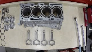 Ryan Gates Time Attack Evolution X 311RS 4B11 Engine Block Build Time lapse
