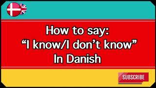Playlist - Short Danish Videos