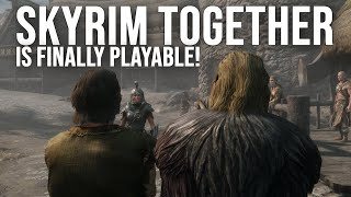Skyrim Together Is Finally Playable! Co-Op Quest Gameplay