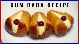 RUM BABA ORIGINAL RECIPE With Pastry Cream By ItalianCakes USA