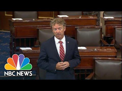 Watch: Senator Rand Paul Objects To Passing 9/11 First Responders Bill | NBC News