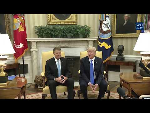President Trump Meets with the President of Romania