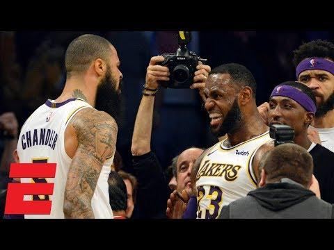 LeBron's go-ahead dunk, Tyson Chandler block seal Lakers win vs. Hawks | NBA Highlights