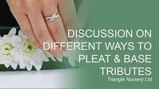 Build your skills on basing and pleating for Tributes (Facebook Live)