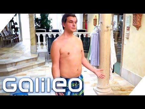 Mit Badehose in die Sauna? Was mache ich, wenn - Hallenbad-Edition | Galileo | ProSieben