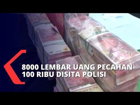 polisi bekuk sindikat pengedar uang palsu juta uang palsu disita