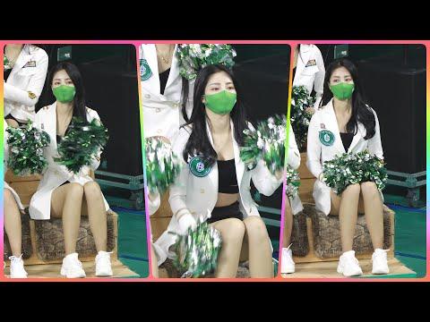 [4K] 치어리더 손현미 직캠 (cheerleader) - 1/2쿼터 응원 모음 @남자농구(원주DB)/210…