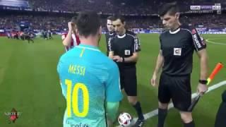 مباراة برشلونة اتلتيكو مدريد ذهاب نصف نهائي الكاس [كاملة] تعليق الكعبي 01-02-2017-HD