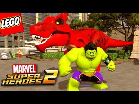 Lego Marvel SuperHeroes 2 #94 - DINOSSAURO E HULK COREANO | (Champions DLC)
