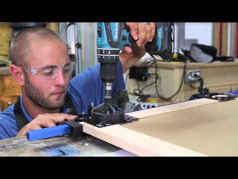 How to Easily Drill Hinge Cups in Cabinet Doors