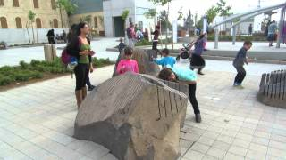 preview picture of video 'Beersheba, Israel, Carasso Science Park - באר שבע, ישראל, פארק קרסו למדע - סלע מנגן'