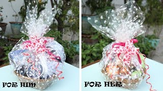 VALENTINES DAY GIFT BASKET IDEAS || Diy Gift Ideas || Easy And Affordable || 2018