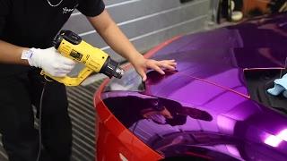 KSI's Purple Lamborghini Wrapped - (part 1)