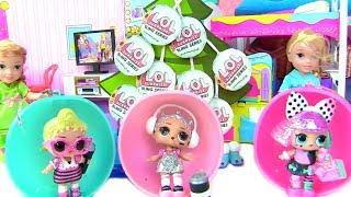 Куклы Лол Мультик! Блестящие Сюрпризы Лол на Рождество для Анны и Эльзы! Lol Surprise Bling Series