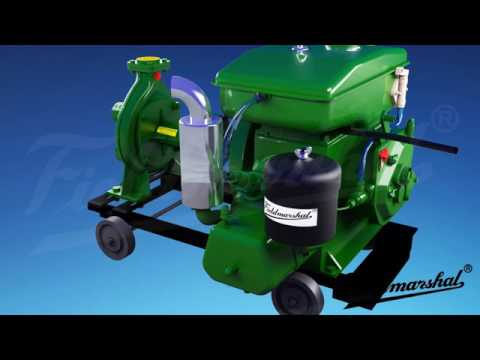 4 HP 170 RPM Air Cooled Water Pump Set