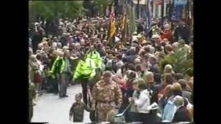 preview picture of video '2nd Bn. The Royal Welsh Regiment parade through Newport City'
