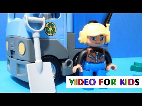 Vidéo LEGO Duplo 10519 : Le camion poubelle