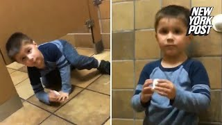 Adorable Kid Crawls Into Strangers Stall At Chick-fil-A Bathroom | New York Post